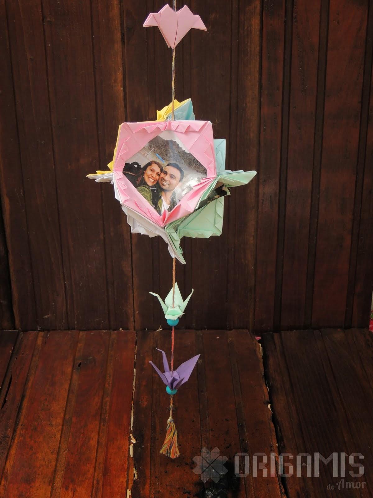 Kusudama Porta Retrato de Origami