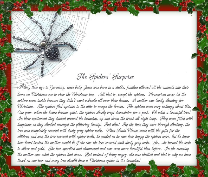 Obsessed image with regard to legend of the christmas spider printable
