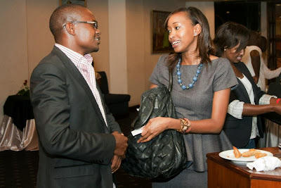 - Janet Mbugua came to support