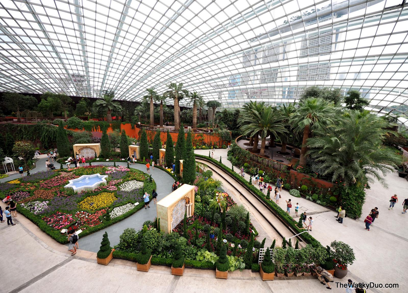 Garden By The Bay Flower Dome persian garden @ gardensthe bay | the wacky duo | singapore
