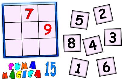 Cuadrado Magico, Cuadrado mágicos, cuadrado mágico, suma mágica 15, constante mágica 15, cuadrado mágico 3x3, cuadrado mágico de orden 3
