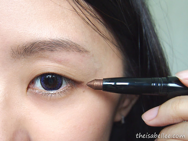 Using Elianto Long Wear Eyeshadow Stick as eyeliner