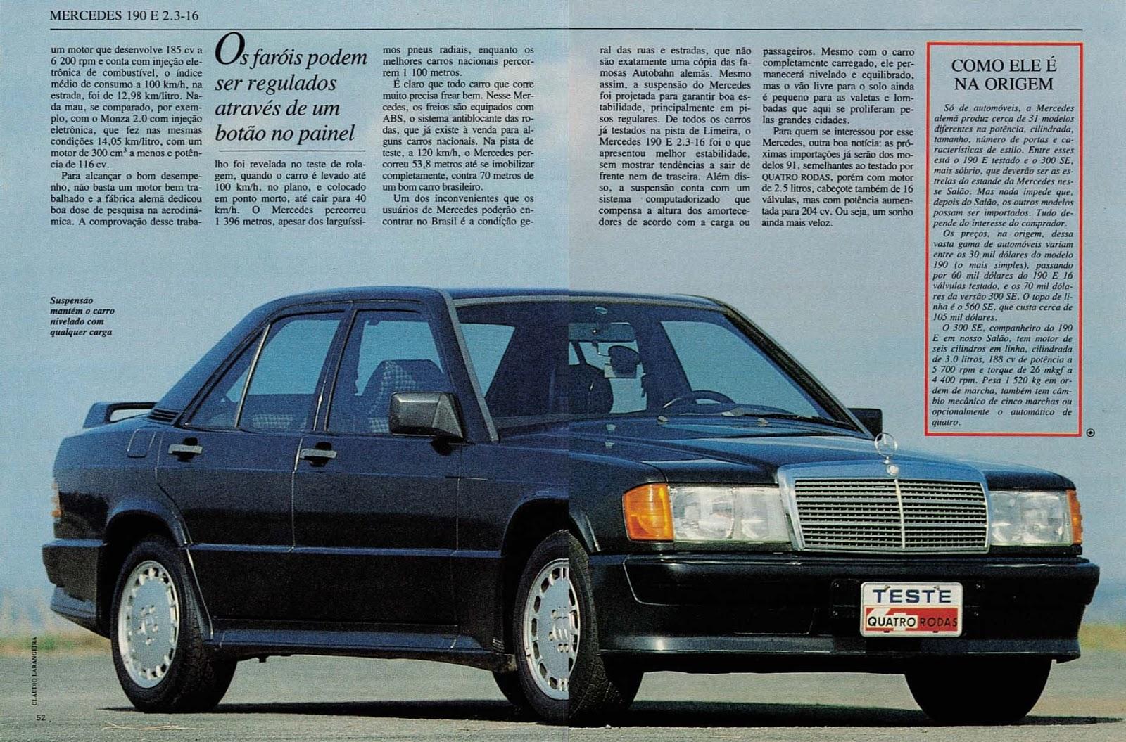 (W201): Avaliação Revista Quatro Rodas - outubro de 1990 - 190E 2.3 363%252C053%252C31%252C10%252CTE