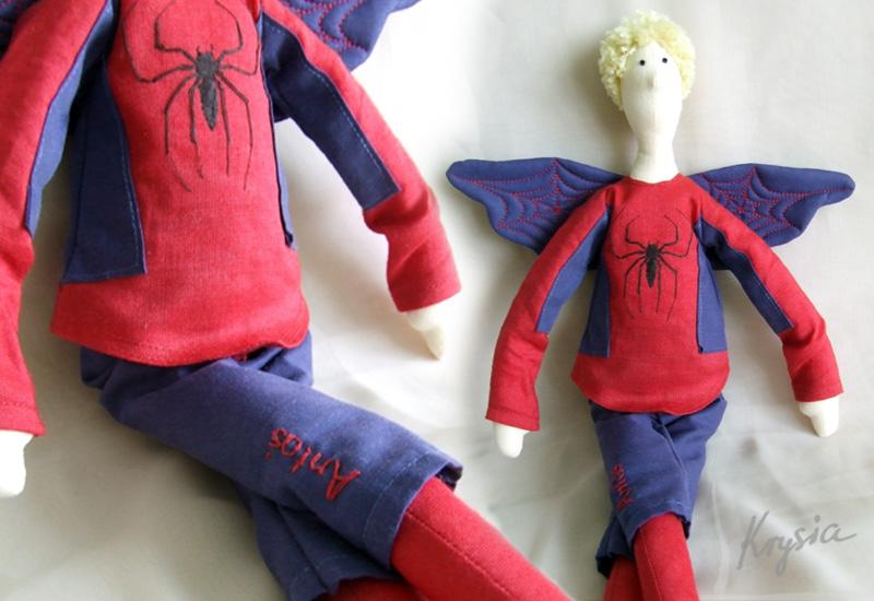 anioł tilda spiderman Krysia to uszyła