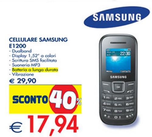 In vendita al prezzo strabiliante di soli 17,94 euro un cellulare Samsung con funzioni base nei supermercati Esselunga