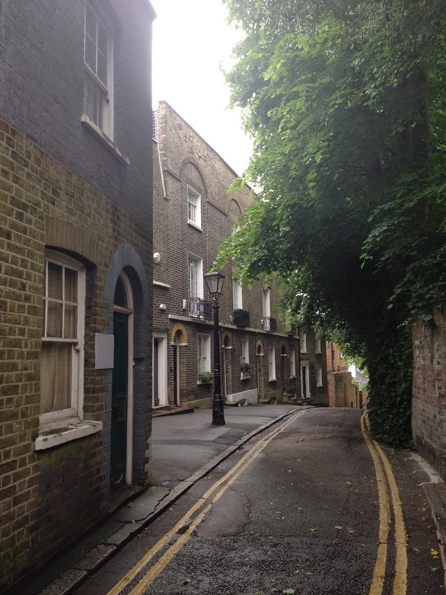 Narrow street, Hampstead, London NW3