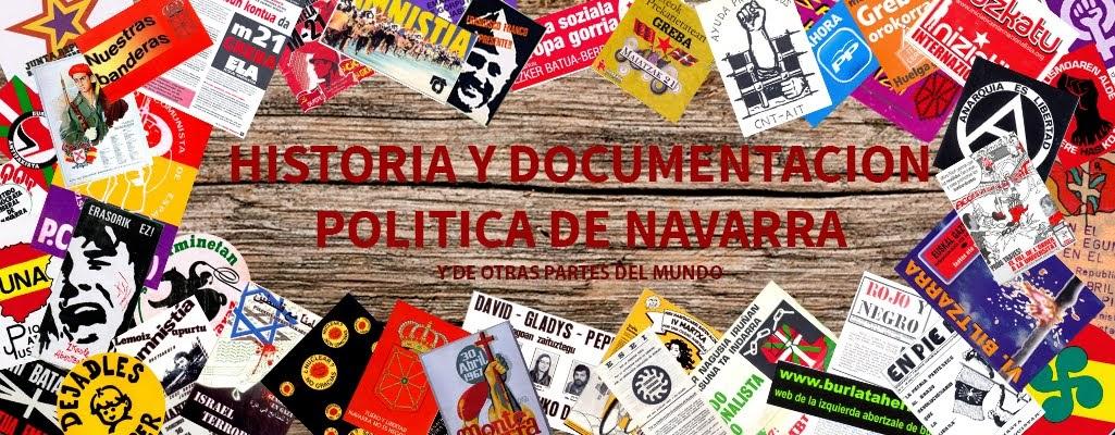 HISTORIA Y DOCUMENTACIÓN POLÍTICA DE NAVARRA