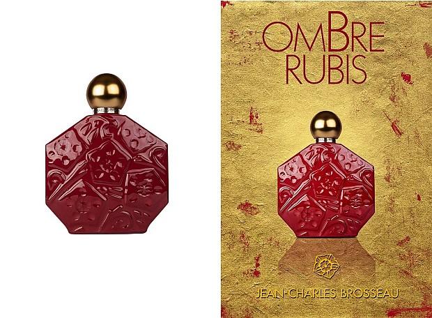 Jean Charles Brosseau Ombre Rubis - flakon i reklama