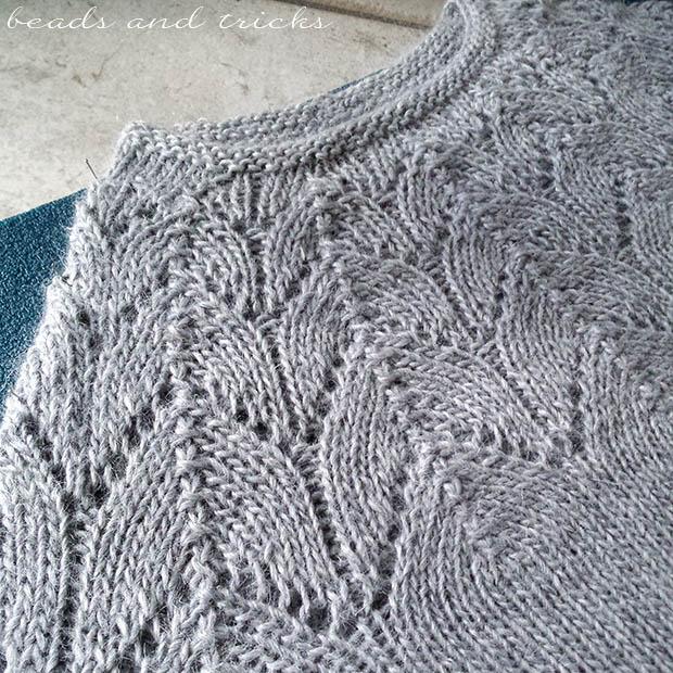 Maglione in lana e alpaca fatto a mano