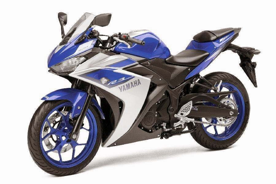 Yamaha YZF-R3 Race Blu (2015) Front Side