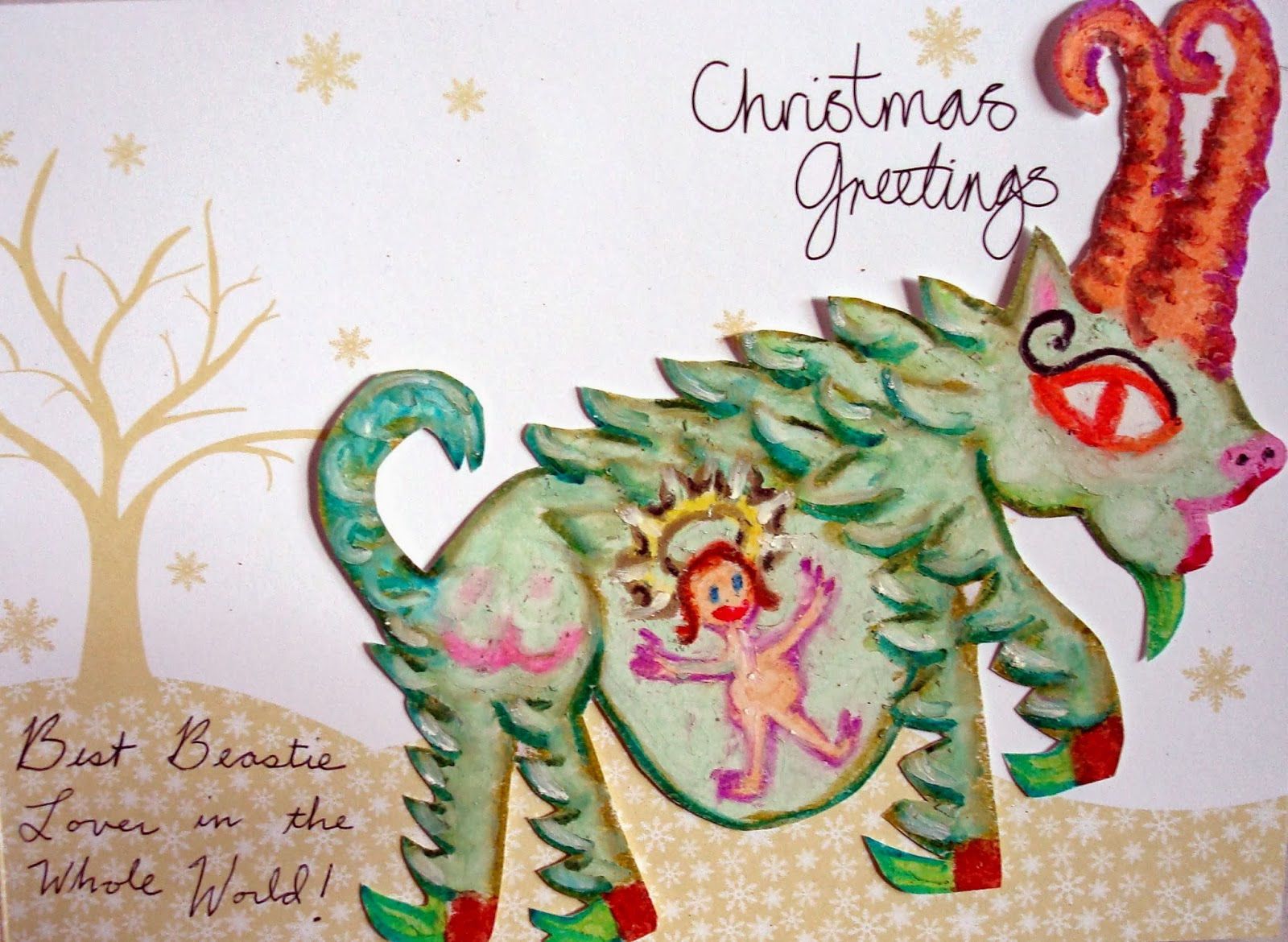 Schizophrenia And Art Christmas Delusion Card