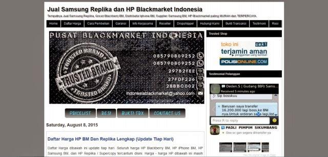 IDblackmarket.com Tempatnya Hp BM Terpercaya