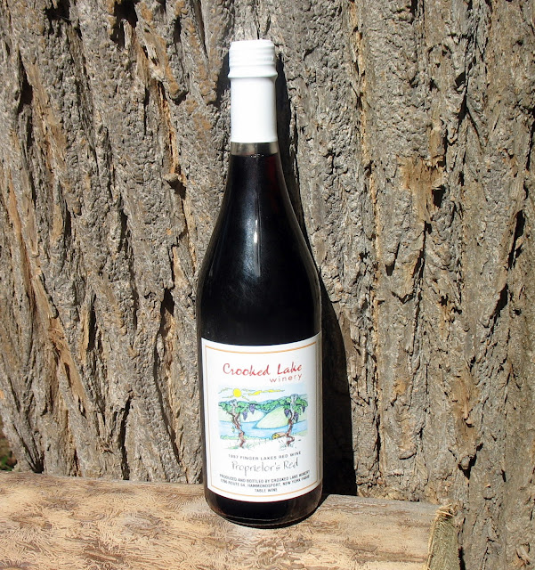 Bottle of Crooked Lake Winery's Proprietor's Red Table Wine