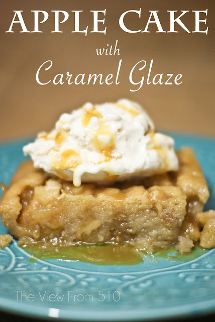 Apple Cake with Caramel Glaze recipe