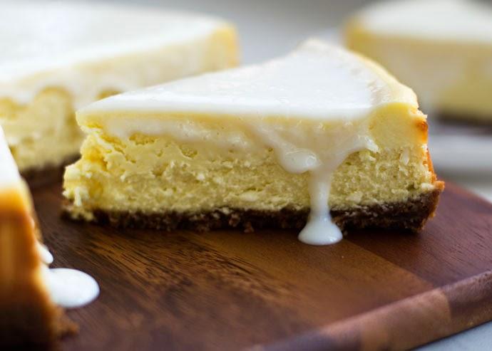 Witte chocolade cheesecake met bastognebodem