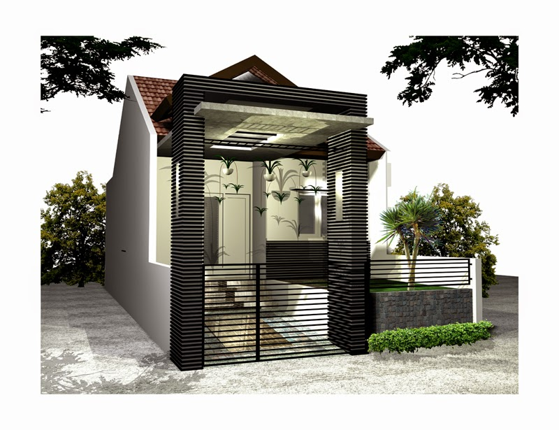 Desain Eksterior Kanopi pada Rumah Standar Minimalis