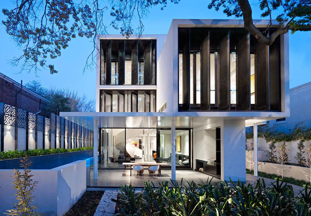 World of architecture modern home at verdant avenue for Home architecture melbourne