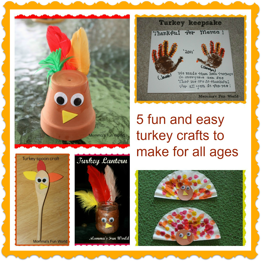 Momma 39 s fun world fun turkey crafts for all ages for Fun crafts for all ages