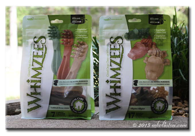 Two bags of Whimzees dog dental chews