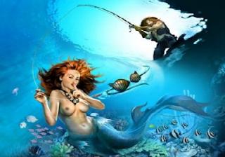 Crazy Fishing Happy Family Got Monster Mermaid