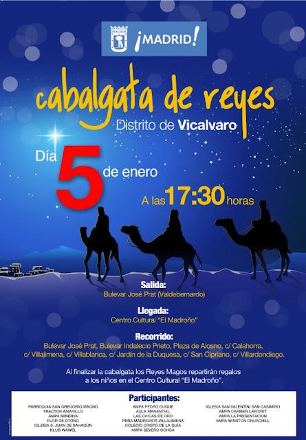 Cabalgata de Reyes de Vicálvaro, 5 enero 2014