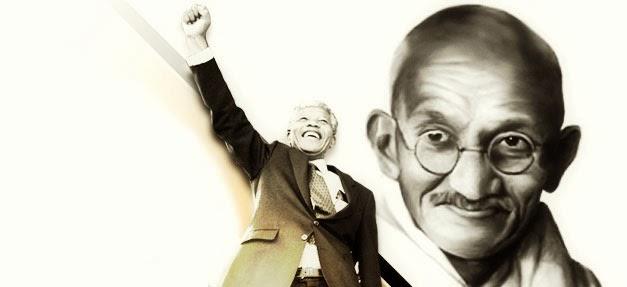 Mandela sigue a Gandhi