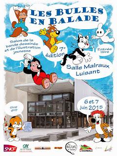 Salon de la BD et de l'illustration jeunesse Les Bulles en Balade de Luisant - 6 et 7 juin 2015