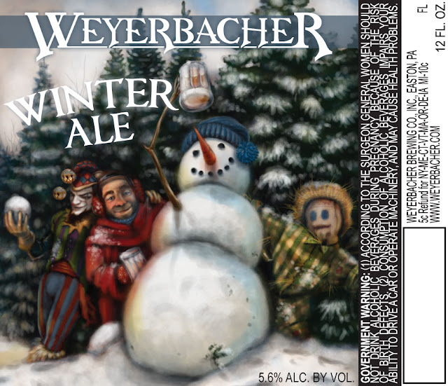 Weyerbacher Brewing Company Winter Ale Label Art