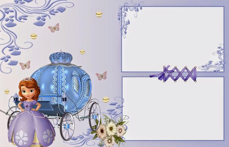 sofia the first invitation card template - premium invitation, Presentation templates