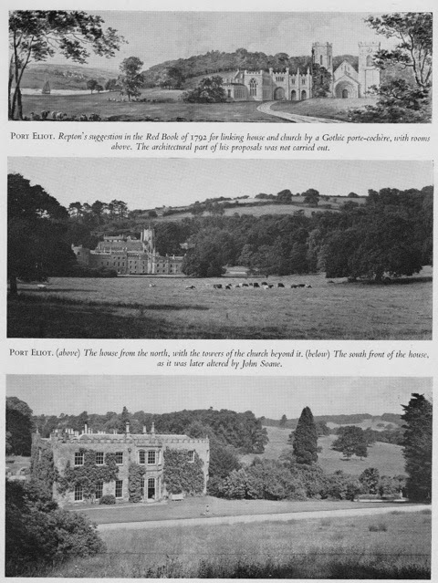Fig 2: Three views of Port Eliot, Cornwall, Edward Eliot's family seat.