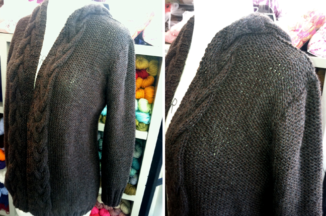 Jennifer Knits Los Angeles: Custom Pattern: Handknit Hooded Cardigan With Cab...