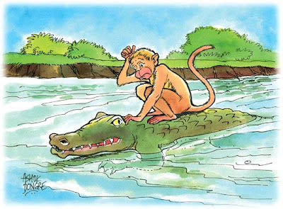 The Monkey And Crocodile