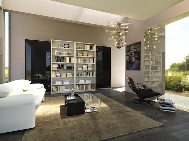 M veis panejados e artefatos de a a z um estante pequena numa sala grande m veis planejados - Armarios para sala de estar ...