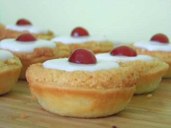 mini cherry bakewells.