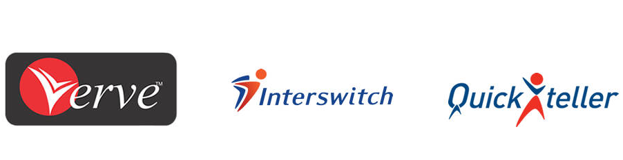 logos of verve, quickteller and interswitch