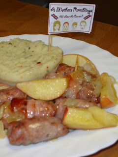 A Mothers Ramblings Sticky Apple Bacon and Sausage Roast with Herby Mash