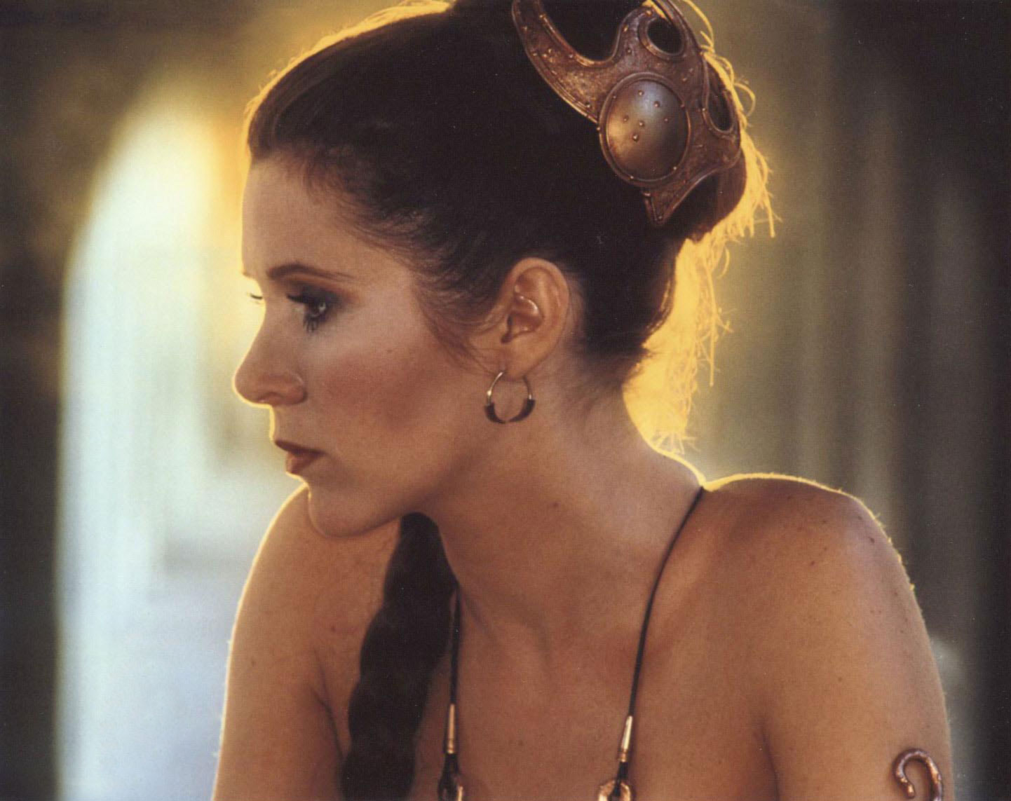 Are not carrie fisher princess leia slave that