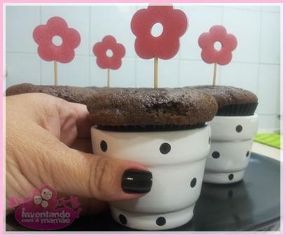 cupcake em vaso de cerâmica