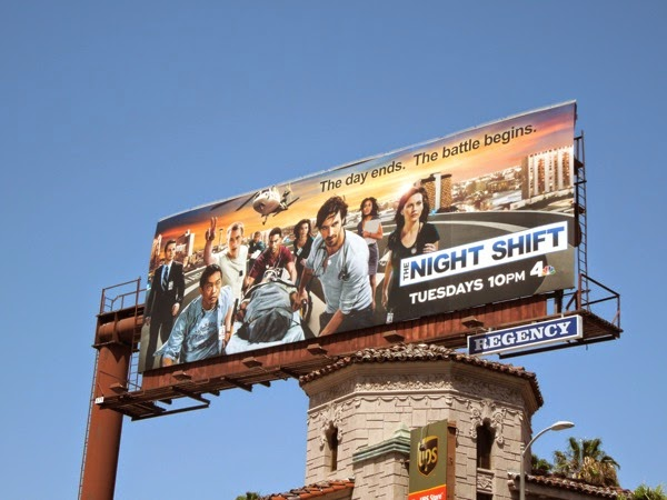 Night Shift series premiere billboard