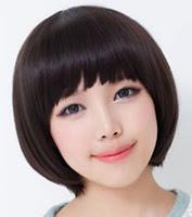 gaya rambut pendek poni wanita korea