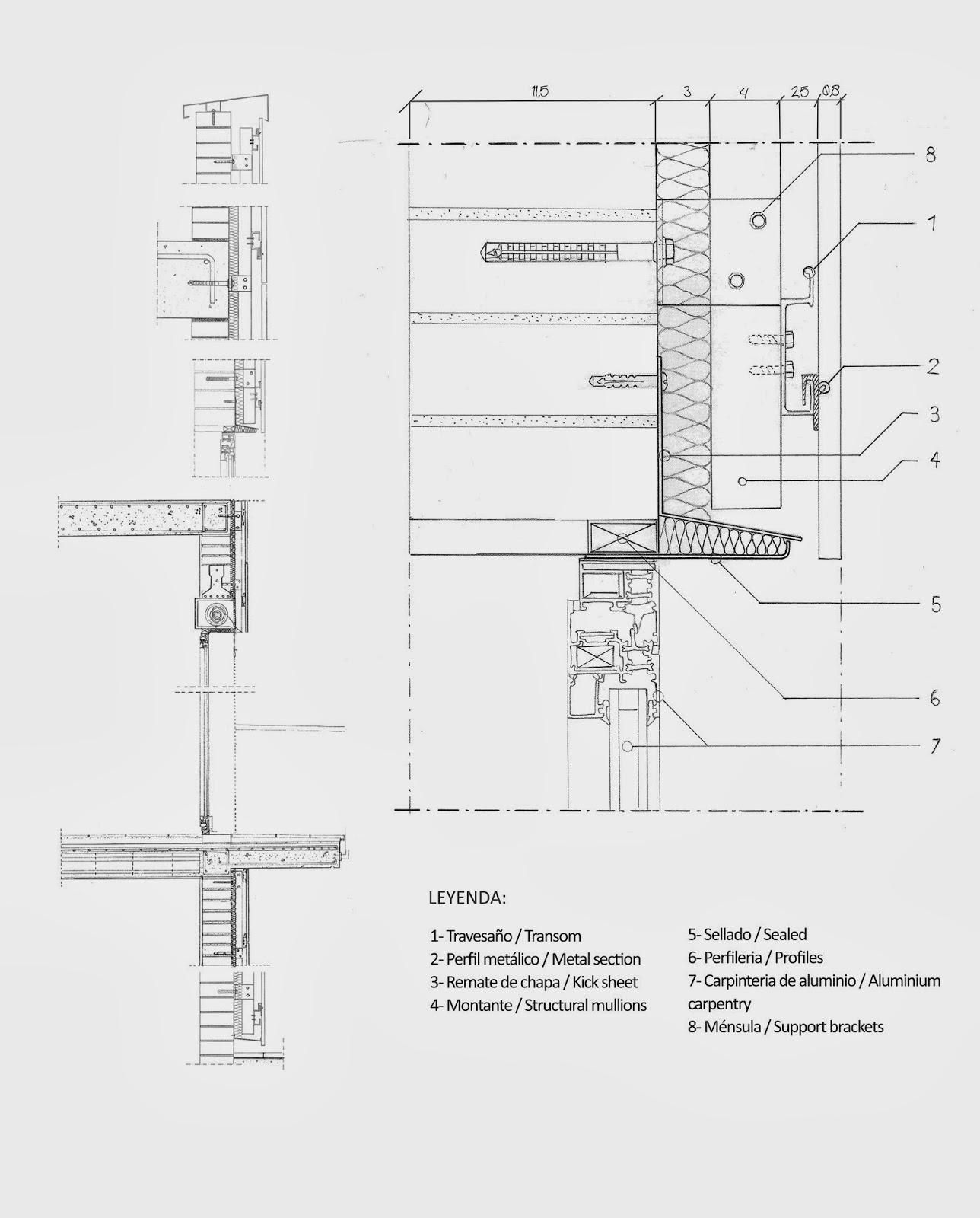 Gesti n de un proceso edificatorio detalles fachada ventilada - Detalle carpinteria aluminio ...