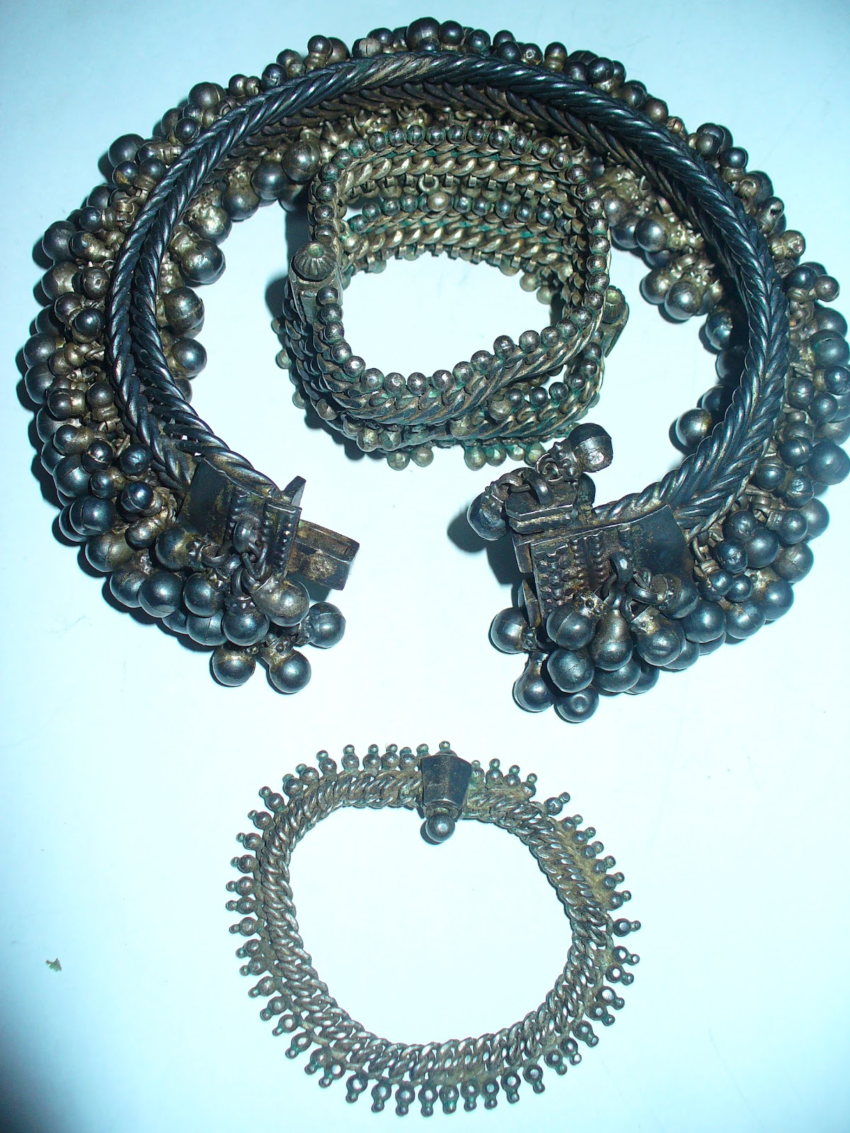 silver antique indian jewellery