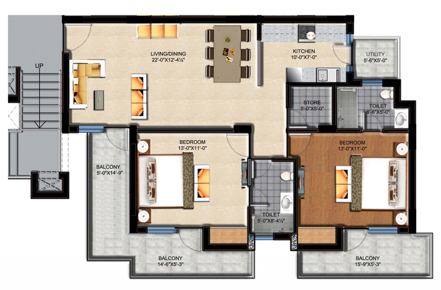 Foundation dezin decor simple common residential for Apartment plans as per vastu
