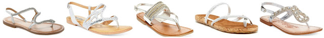Antonio Melani Samantha Flat Sandals $24.49 (regular $69.99)   Not Rated by Naughty Monkey Brentwood Embellished Flat Thong Sandals $34.30 (regular $49.00)   Madden Girl Revivee Beaded Thong Sandals $34.30 (regular $49.00)  Diane von Furstenberg Adelia Sandal $44.00 (regular $110.00)  Naughty Monkey Ring Teaser Flat Thong Sandals $52.50 (regular $75.00)