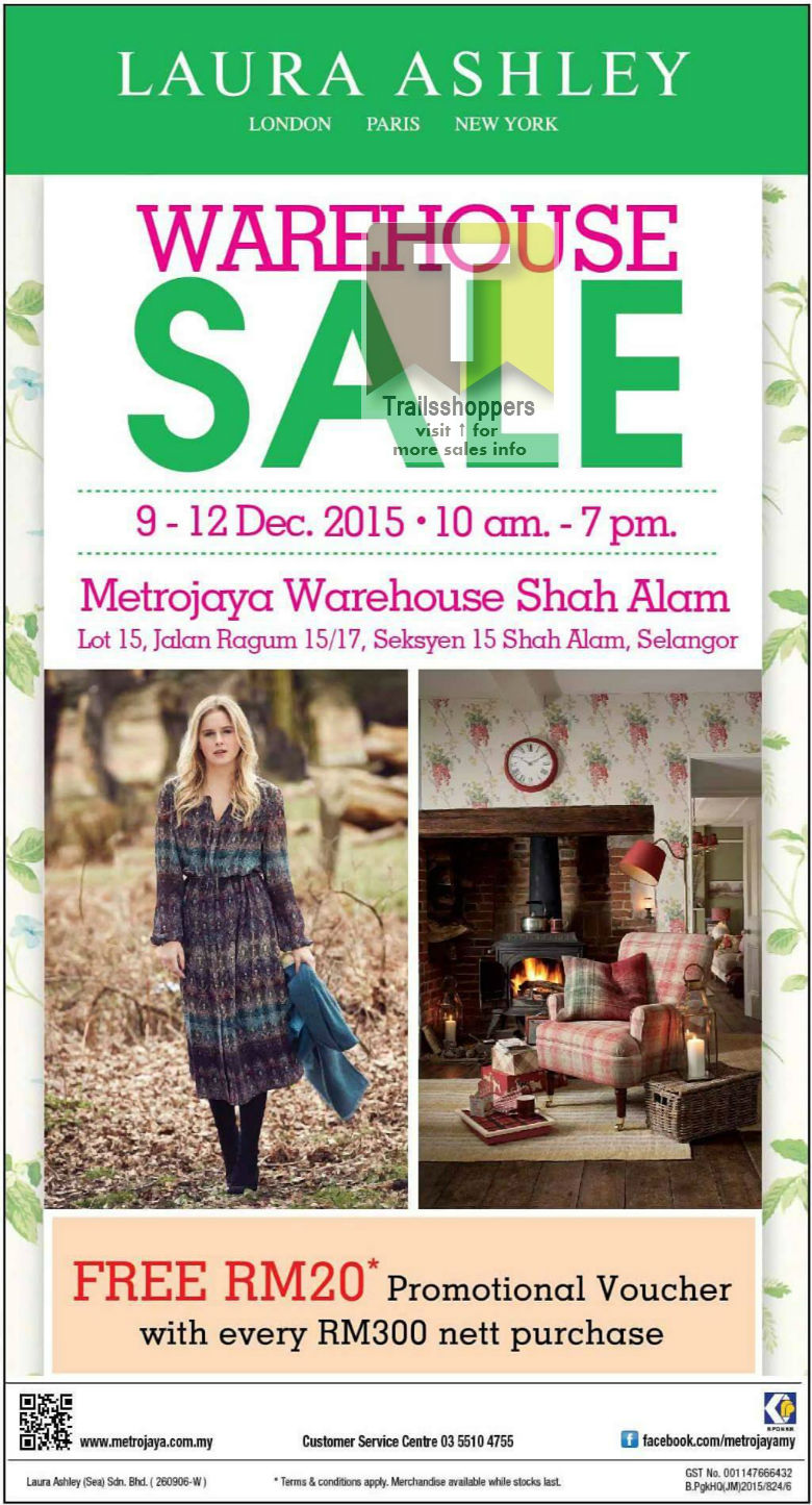 Metrojaya Warehouse Sale Laura Ashley Shah Alam