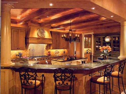 20+ Dapur Cantik dan Bersih dengan Desain Plafon Kayu   Desain Rumah ...