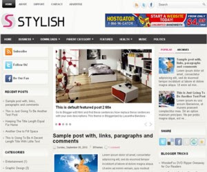 Stylish Blogger Template