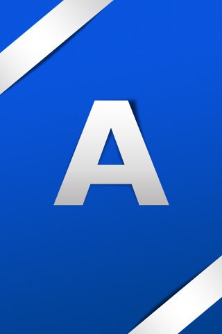 Letter A Simple Text IPhone Wallpaper