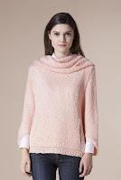 Pulover roz cu guler 4709 (Ama Fashion)