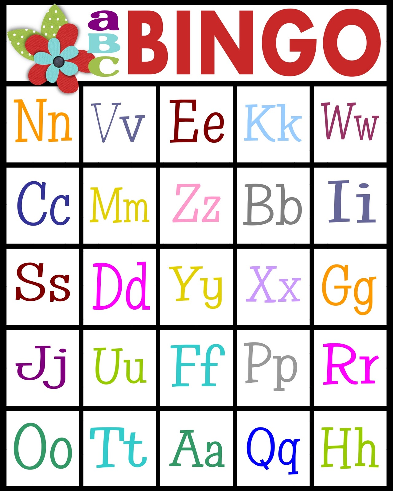 image regarding Abc Cards Printable named Sy Sanctuary: ABCs Bingo- absolutely free printable!